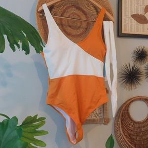 """NWT! Cupshe """"Sherbert"""" One-piece Swimsuit"""